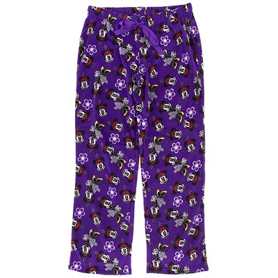 Minnie Mouse Purple Fleece Pajama Pants for Women