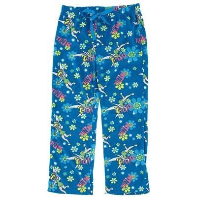 Tinker Bell Blue Fleece Pajama Pants for Women