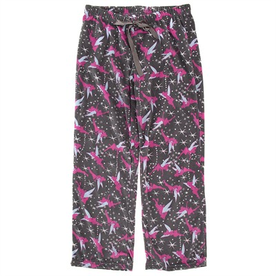 Tinker Bell Gray Fleece Pajama Pants for Women