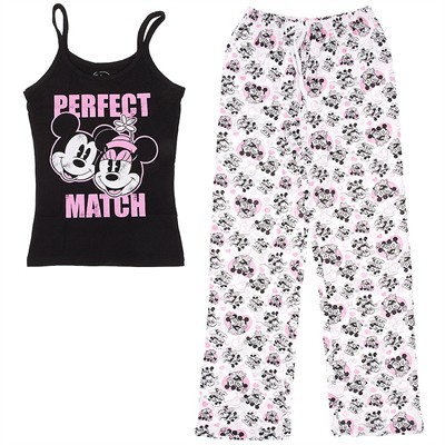 Mickey and Minnie Mouse Perfect Match Pajamas for Juniors