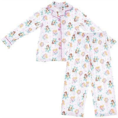 Disney Princess White Coat-Style Pajamas for Girls