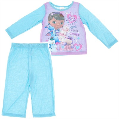 Doc McStuffin Light Blue Pajamas for Toddler Girls