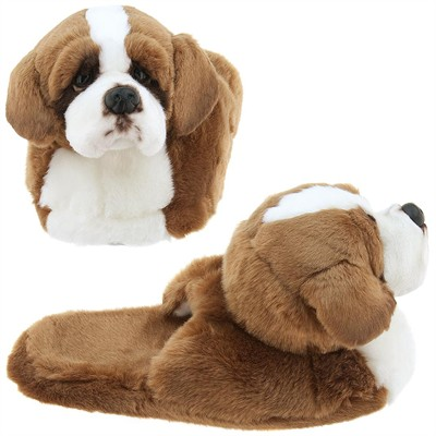 St. Bernard Animal Slippers for Toddler Girls