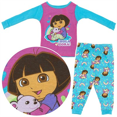 Dora the Explorer Pink and Blue Cotton Infant Girls