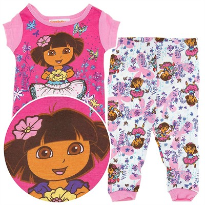 Dora the Explorer Pink Floral Cotton Infant Girls