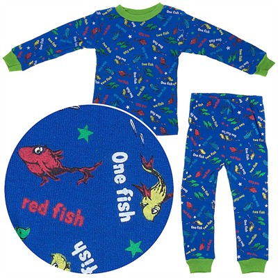 One Fish Two Fish Cotton Pajamas for Infant and Toddler Boys