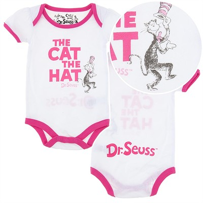 Dr. Seuss White Cat in the Hat Infant Onesie