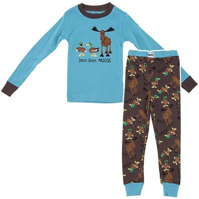 Lazy One Duck Duck Moose Pajamas for Toddlers and Boys