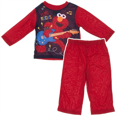 Elmo Rocks Red Pajamas for Toddler Boys
