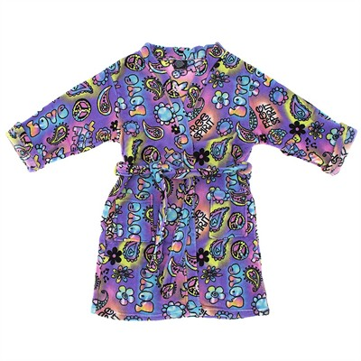 Purple Hippy Fleece Bathrobe for Juniors