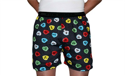 Fun Boxers Heart Candy Valentine's Day Boxer Shorts for Men