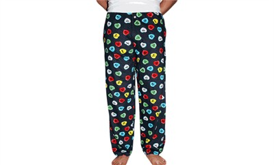 Fun Boxers Conversation Hearts Valentine's Day Pajama Pants for Men