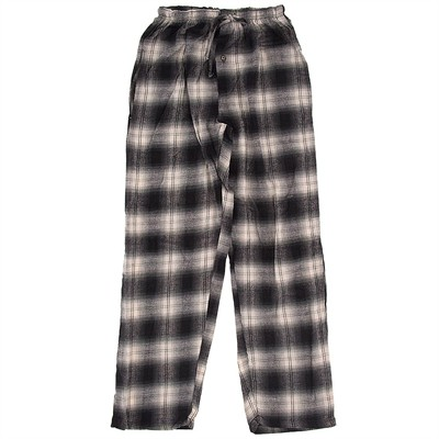 Black and White Checked Flannel Pajama Pants for Women