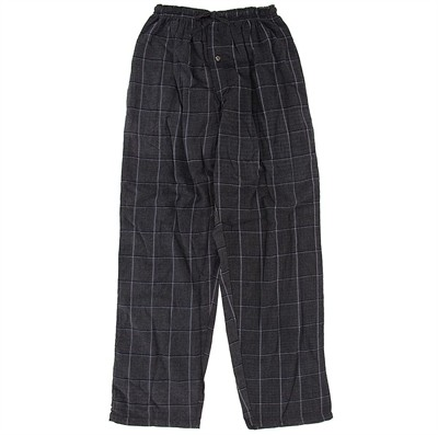 Dark Gray Checked Flannel Pajama Pants for Women