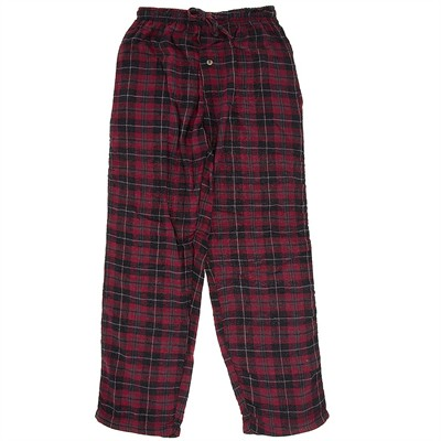 Red Plaid Flannel Pajama Pants for Women