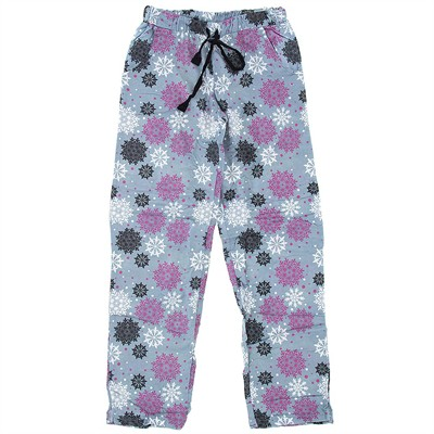 Gray Snowflake Flannel Pajama Pants