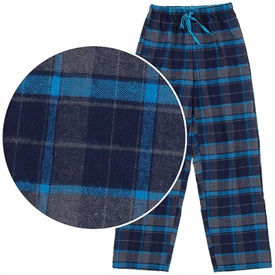 Navy and Blue Flannel Pajama Pants for Women