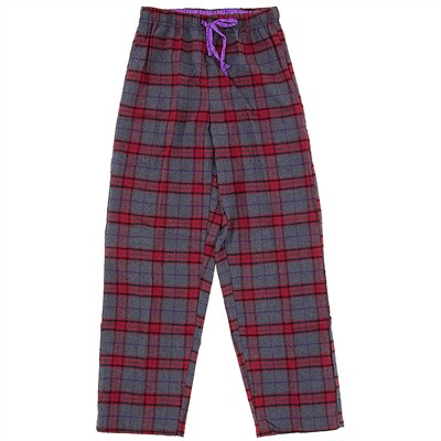 Red and Gray Flannel Pajama Pants for Women