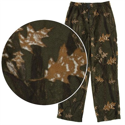 Fall Print Fleece Pajama Pants for Men