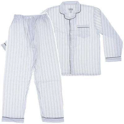 Comfort Zone Blue Striped Flannel Pajamas for Men