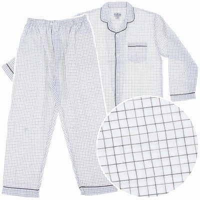 Comfort Zone Gray Checked Flannel Pajamas for Men