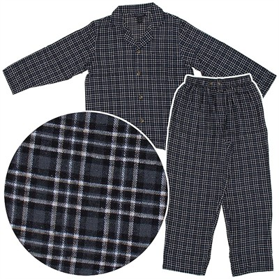 State O Maine Gray and Black Flannel Pajamas for Men