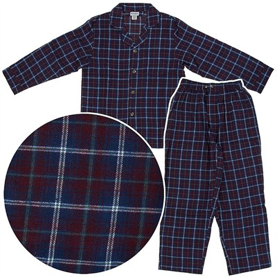 State O Maine Red and Blue Flannel Pajamas for Men