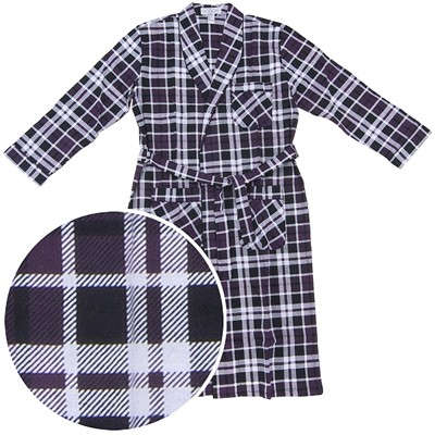 Maroon Flannel Robe for Men