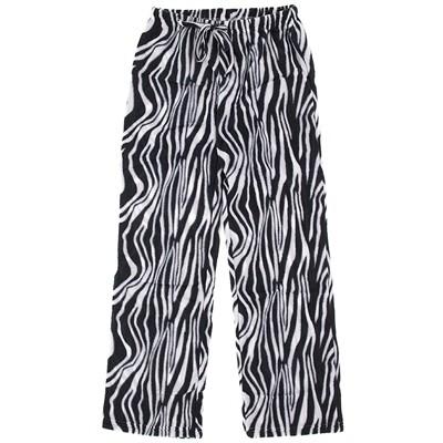 Zebra Fleece Pajama Pants for Women