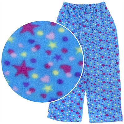 Blue Stars Fleece Pajama Pants for Women