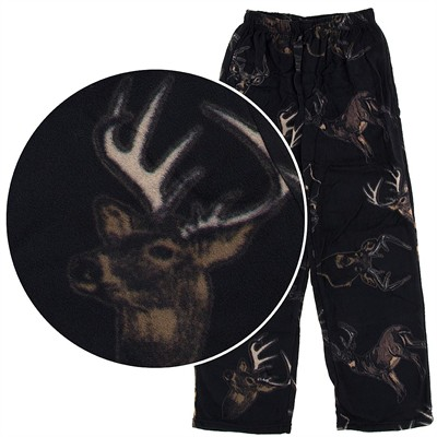 Fun Boxers Deer Fleece Pajama Pants for Men