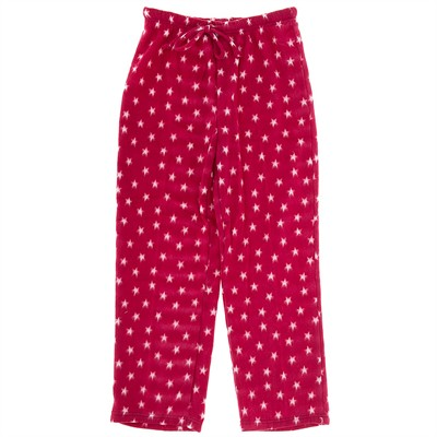 Red Star Fleece Pajama Pants for Women