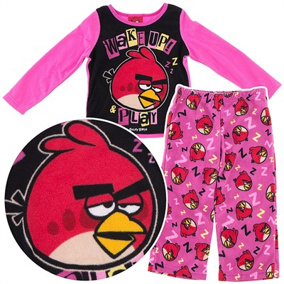 Angry Birds Fleece Pajamas for Girls