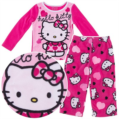 Hello Kitty Hearts Fleece Pajamas for Girls