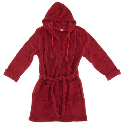 Red Fleece Robe for Women