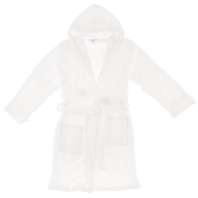 White Plush Bath Robe for Women