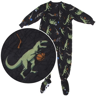 Dinosaur Footed Pajamas for Boys