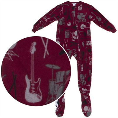 Rock Band Footed Pajamas for Boys