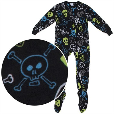 Skull Footed Pajamas for Boys