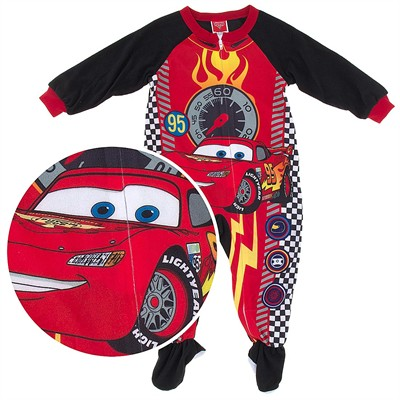 Cars Speedometer Footed Pajamas for Toddler Boys