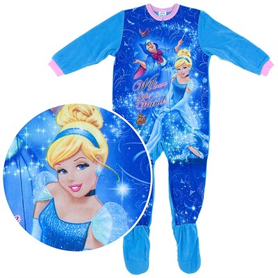 Cinderella Footed Pajamas for Toddler Girls