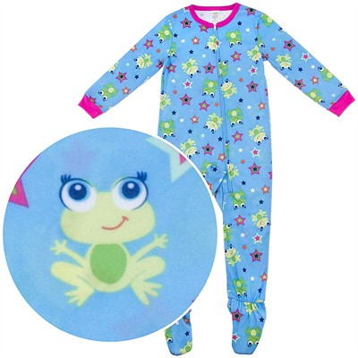 Frog Footed Pajamas for Girls