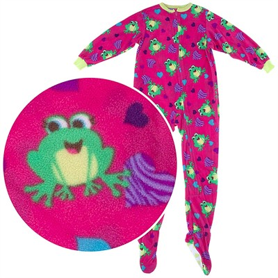 Pink Frog Footed Pajamas for Girls