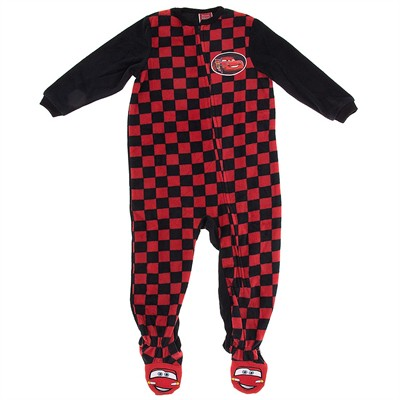 Cars Red Footed Pajamas for Toddlers and Boys