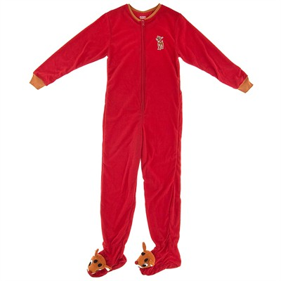 Rudolph the Red Nosed Reindeer Footed Pajamas for Women