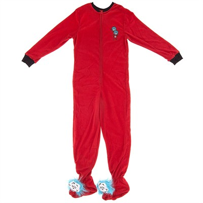 Thing One and Thing Two Footed Pajamas for Women