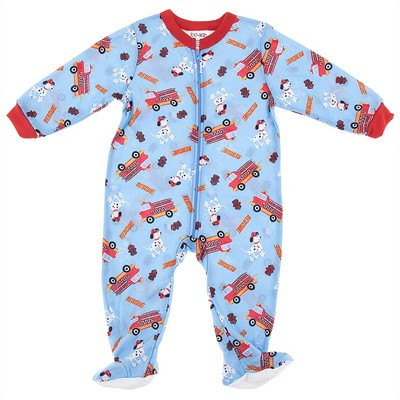 Fire Truck Footie Pajamas for Baby Boys