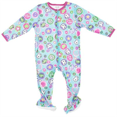 Blue Cat Footie Pajamas for Baby and Toddler Girls