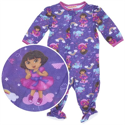 Dora the Explorer Knit Footie Pajama for Infant Girls
