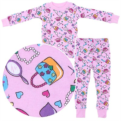 Frandas Pink Cotton Girl Things Pajamas for Toddler Girls
